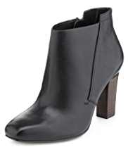Autograph Leather Wide Fit Ankle Boots with Insolia®