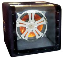 Absolute Hfs1127 Single 12-Inch Subwoofer Illumination Bandpass Box With Crhome Grill And Led Lighting With 500 Watts Maximum Power