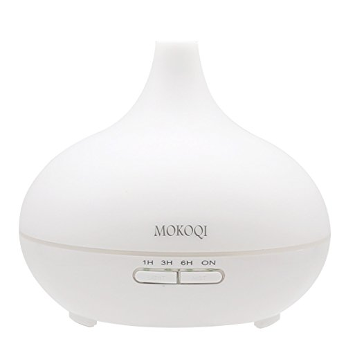 MOKOQI 300ml 9-10 Hours Aromatherapy Essential Oil Diffuser Ultrasonic Aroma Humidifier with Waterless AUTO Shut Off Function and 7 Color Changing LED and 4 Timers and BPA Free for Yoga Office Bedroom (Aroma Chi Lavender Oil compare prices)