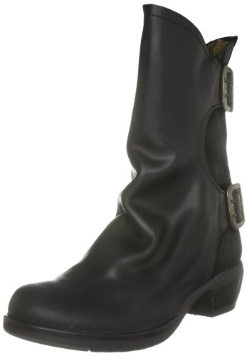 Fly London Women's Mango Black Mid Calf Boots P141632003 4 UK