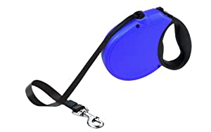 Flexi Freedom Soft Grip Retractable Belt Dog Leash, Large, 16-Feet Long, Supports up to 110-Pound, Blue/Black