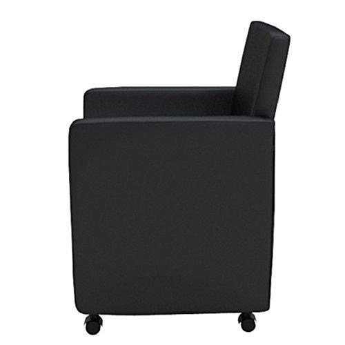 Set 6 sedie moderne nere sedia sala da pranzo e soggiorno for Sedie nere moderne