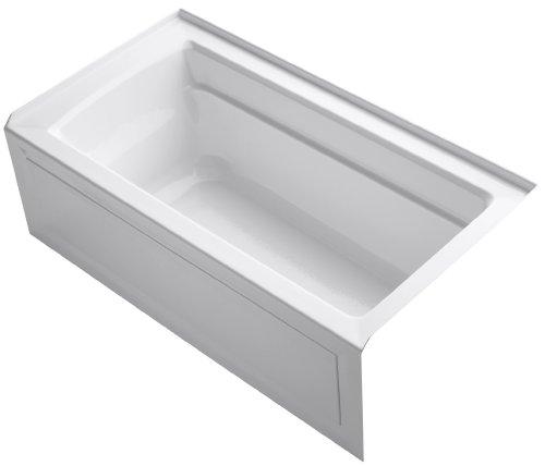 KOHLER K-1123-RA-0 Archer 5-Foot Bath with Comfort Depth Design, Integral Apron and Right-Hand Drain, White (Tub 60 Gallon compare prices)
