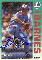 Brian Barnes Montreal Expos 1992 Fleer Autographed Hand Signed Trading Card. by Hall+of+Fame+Memorabilia
