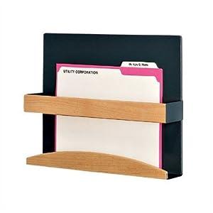 Bundle-75 1 Pocket Magazine Rack Type: HIPAA Application Holder, Back Panel Color: Soft White, Retainer Finish: Oak