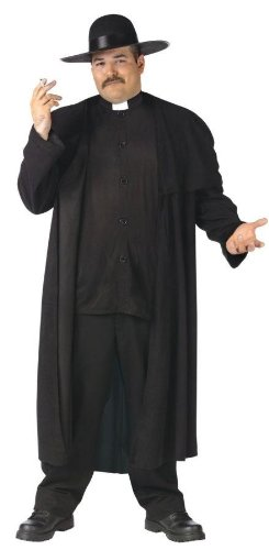 Priest Deluxe Plus Size Costume (Men's Adult X-Large)