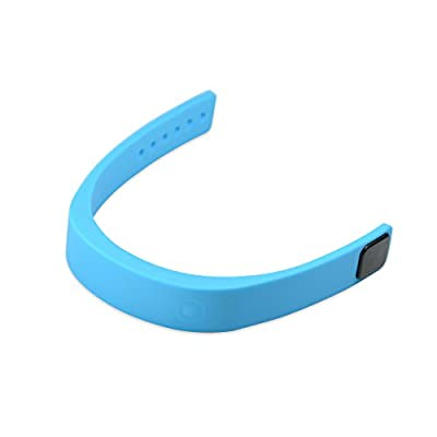 Svance smart Wristband Bluetooth V4.0 outdoor sport sleeping keep fit Waterproof Health and Fitness Tracker Bracelet for swimming, running and walking(Blue)