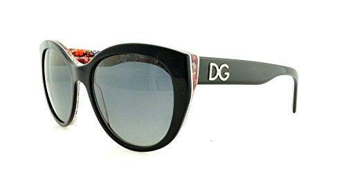 Dolce And Gabbana 4217 2789T3 Black 4217 Cats Eyes Sunglasses Polarised Lens Ca