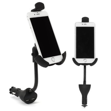 I Go Teck Car Mount, I Go Teck, Car Smartphone Holder Hands Free with Dual USB 3.1A Charger With Over Charge and Over Current Protection