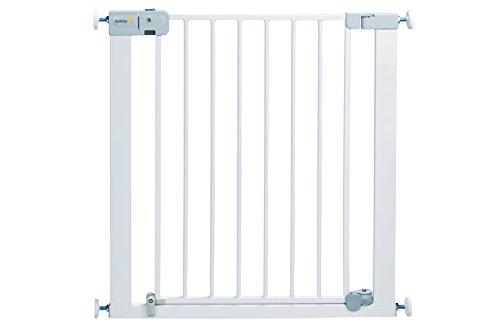 Safety 1st - Cancelletto di sicurezza metallico con chiusura automatica, Bianco