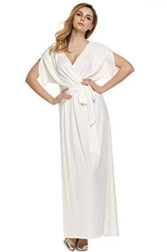 Angvns women's classy evening dresses (XL, White)