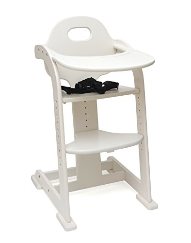 Lipper International 515W High Chair, White - 1