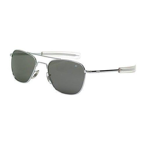 Ao American Optical Original Pilot Sunglasses Silver 55Mm Bayonet Temples
