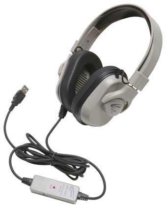 Califone Hpc-1000 Cord For Hpk-1000 Headphones, Usb Plug