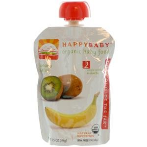 Happy Baby Organic Baby Food Stage 2 Banana And Kiwi -- 3.5 Oz