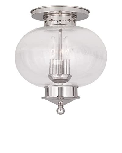 Crestwood Lucia 3-Light Ceiling Mount, Polished Nickel