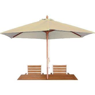 Garden / Patio Cream Round - 3m Pulley Parasol / Sun Visor Umbrella - stylish and durable furniture for your garden