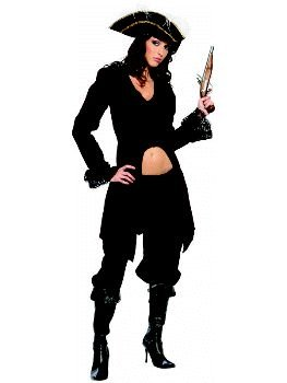 She Captain Burgundy Pirate Female Adult Costume Size 6-8 Small
