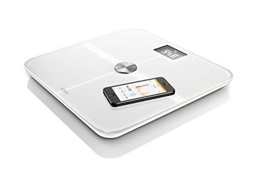 【日本正規代理店品】 Withings ネットワーク対応 体重計 Smart Body Analyzer WS-50 ( Bluetooth Wi-Fi 機能搭載 / 超薄型 / 体重 / 体脂肪 / 心拍数 / 室内環境 ) ホワイト 70046001