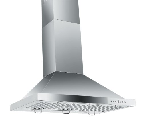 Z Line Zlkb30-Led Stainless Steel Wall Mount Range Hood, 30-Inch