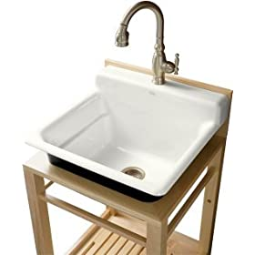 Utility Sink on Utility Sink Stand