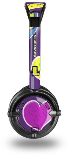 Skullcandy Lowrider Headphone Skin - Crazy Hearts - (Headphones Not Included)