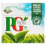 Pg Tips Pyramid 40 Teabags 125G