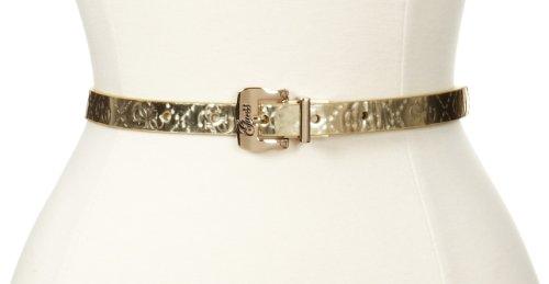 Guess Women's 5/8 Inch Reversible Elrika Logo Patent Belt