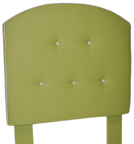 Image of Southeastern Kids Curved Tufted Headboard Apple Green and Light Pink (1111/0705)