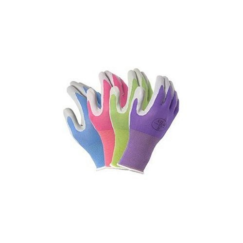 Atlas 370 Garden Club Gloves. Assorted Colors - 4 Pack. Size Medium