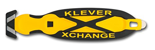 Klever XChange, Safety Knife Cutter, Replaceable Head, Yellow
