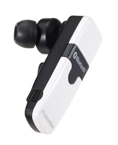 プリンストンテクノロジー 骨伝導機能付カナル型Bluetoothハンズフリーヘッドセット PTM-BEM8WH