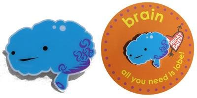 Brain Lapel Pin All You Need Is Lobe I Heart Guts