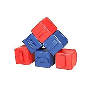 Foamnasium Baby Blocks, 3 Red/Blue