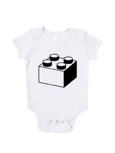 Blue Ivory Lego Block Baby Grow Funny Novelty Slogan Humour Inspired front-904526