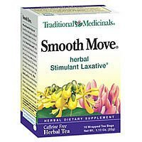 Traditional Medicinals Organic Smooth Move Herbal Stimulant Laxative Tea - 16 Bags, 12 Pack