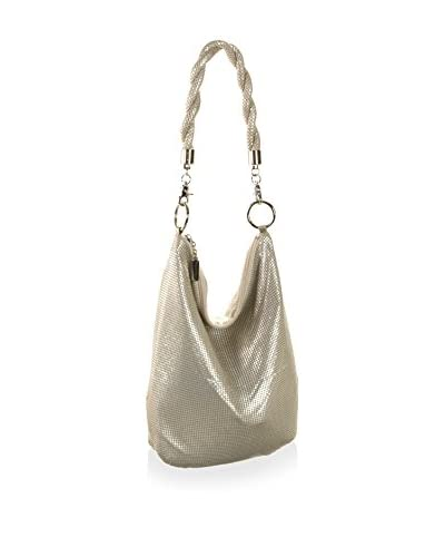 Whiting & Davis Women's Twisted Large Shoulder, Pearl