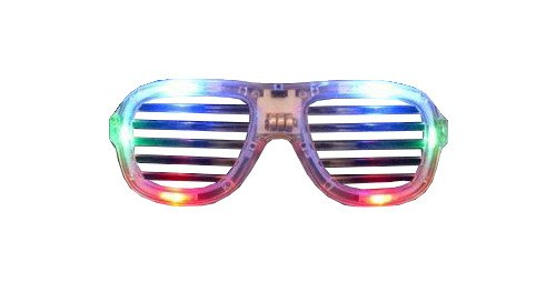 WeGlow International Slotted LED Sunglasses, Multicolor, Set of 3