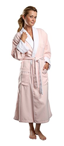 Monarch/Cypress Unisex Plush Lined Microfiber Robe Large Pink