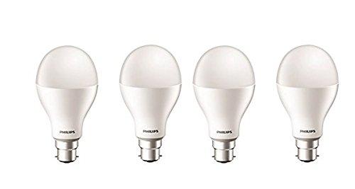 Philips 20W Standard B22 LED Bulb (White, Pack Of 4)