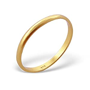 amazon     gold plated silver stackable ring 925
