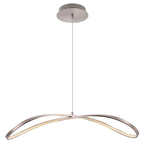 LED-112-Watt-Hnge-Leuchte-Licht-Esstisch-Nickel-matt-satiniert-Beleuchtung-Globo-67810H