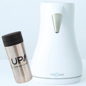 水素水生成器 H2Oasis (エイチツーオアシス) ステンレス水素水ボトルプレゼント