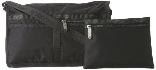 LeSportsac Deluxe Shoulder Satchel Handbag,Black,One Size
