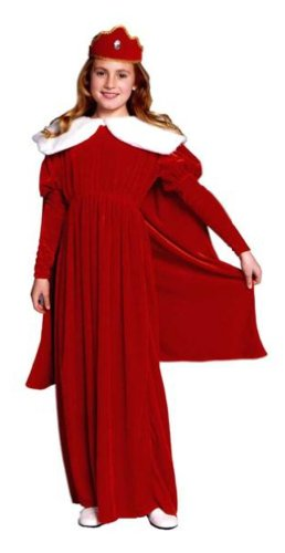 Child Royal Queen Velvet Costume (Red Brighter than Pictured)