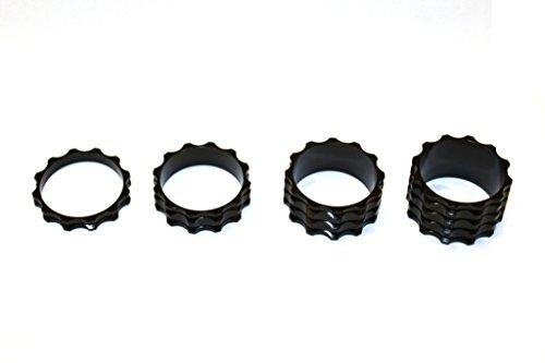 A-Head Vorbau Aluminium Spacer Set 1 1/8 Zoll 5 10 15 20 mm Headset schwarz