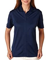 Adidas Golf A78 Ladies ClimaLite 3-Stripes Cuff Polo - Collegiate Navy/White - Large