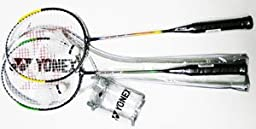Racket Frame: Steel - YONEX Combo Badminton Recreational Package-2 Racket Set