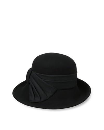 Giovannio Women's Felt Hat With Bow, Black