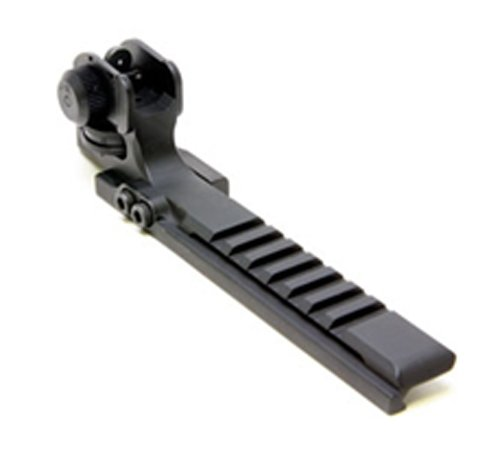 Promag Ar-15/M16 Flat Top Eotech Mount With Integral A2 Adjustable Rear Sight, Black